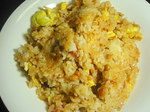 「納豆と焼き梅のチャーハン」